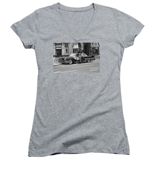 Rock And Roll Radio Campaign Women's V-Neck (Athletic Fit)