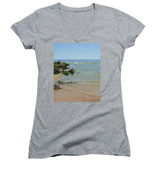 Rocks And Shallows Women's V-Neck T-Shirt (Junior Cut)