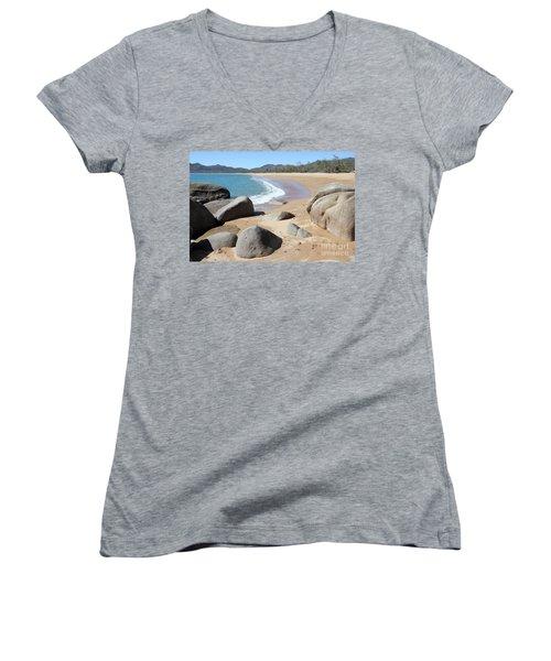 Rocks On The Beach Women's V-Neck