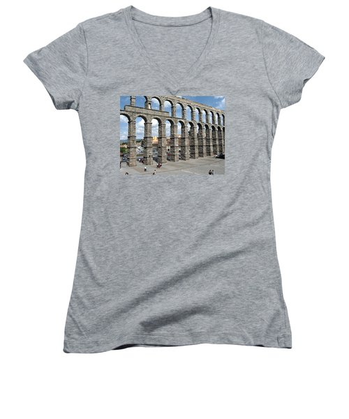 Roman Aqueduct IIi Women's V-Neck