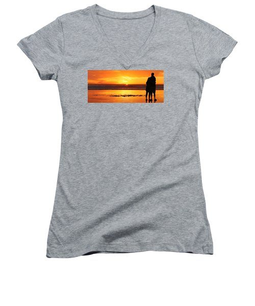 Romantic Sunset  Women's V-Neck