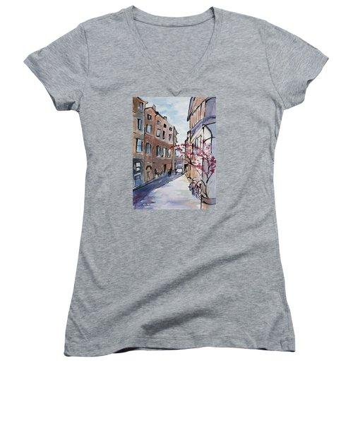 Rome Street Scene IIi Women's V-Neck T-Shirt