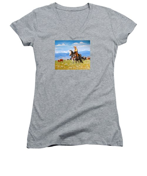 Ron And  Cash At Work Women's V-Neck