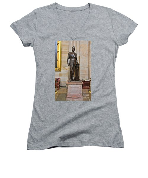 Ronald Regan -  U S Capitol Statuary Hall Women's V-Neck