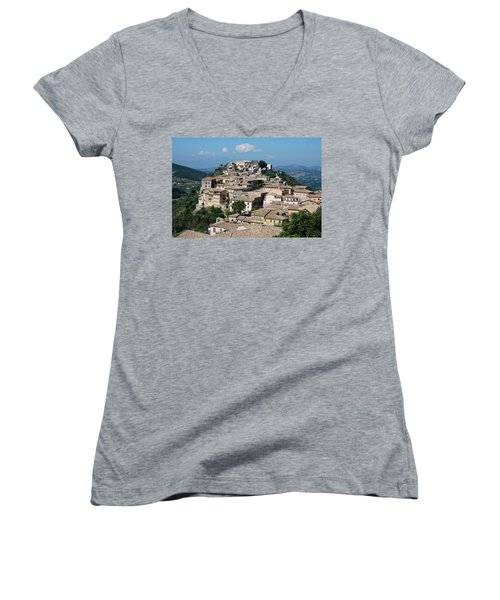 Rooftops Of The Italian City Women's V-Neck (Athletic Fit)
