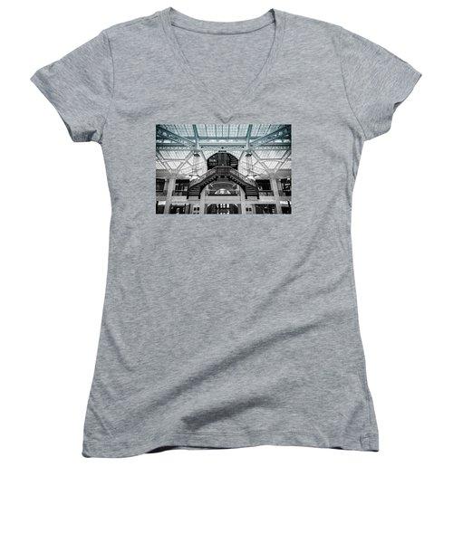 Rookery Building Atrium Women's V-Neck T-Shirt