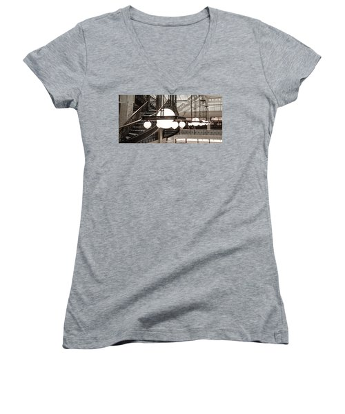 Rookery Building Lights Women's V-Neck (Athletic Fit)