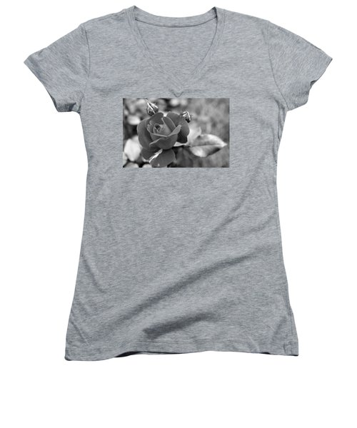 Rose Of Grace Women's V-Neck T-Shirt (Junior Cut) by Faith Williams