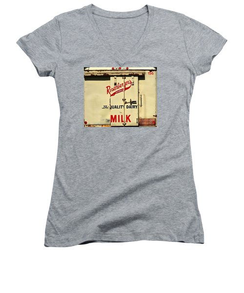 Rosenberger's - Dairy Milk  Women's V-Neck (Athletic Fit)