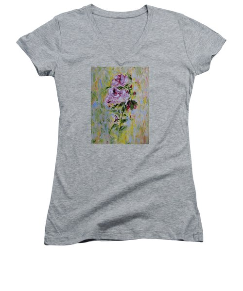 Roses Women's V-Neck T-Shirt