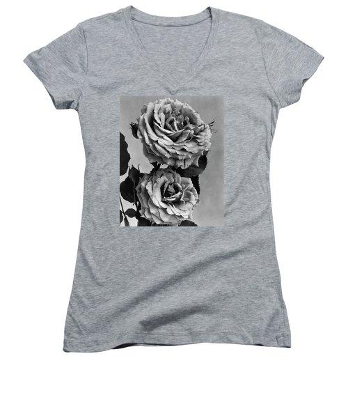 Roses Women's V-Neck