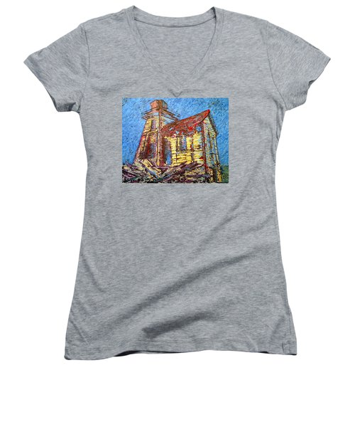 Ross Island Lighthouse Women's V-Neck