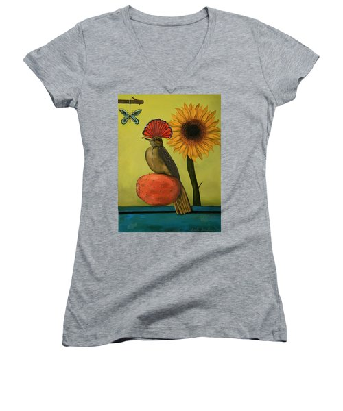 Royal Flycatcher  Women's V-Neck (Athletic Fit)