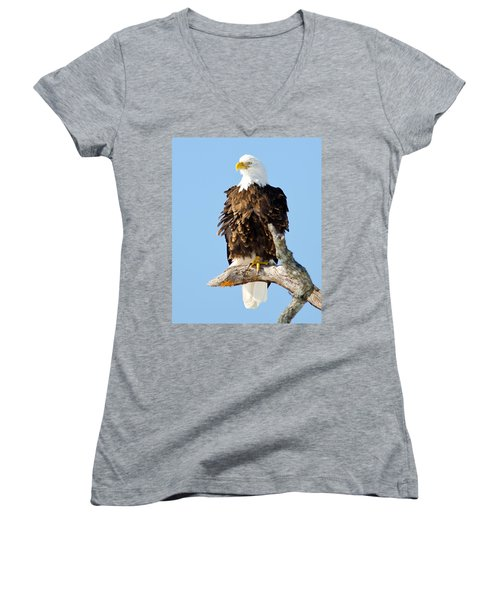 Ruffled Eagle Women's V-Neck (Athletic Fit)