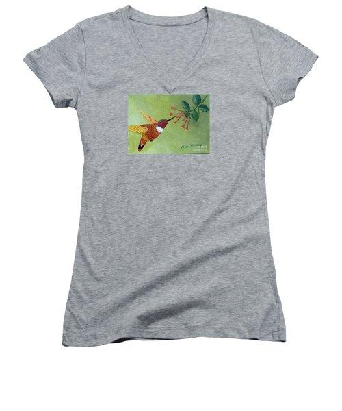 Rufous Hummingbird Women's V-Neck