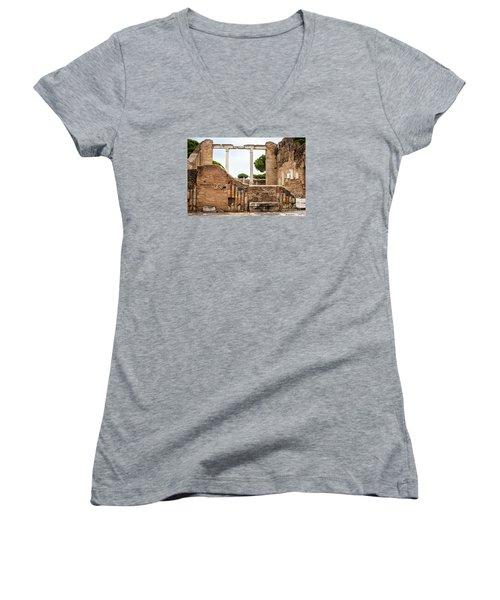 Ruins Of Ostia Antica Women's V-Neck