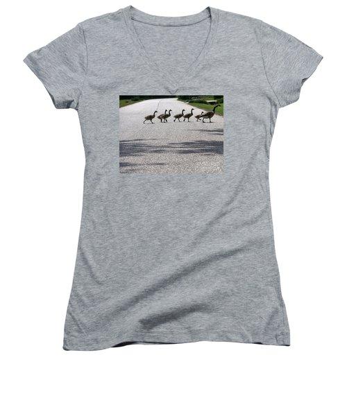 Rural Crossing Women's V-Neck T-Shirt