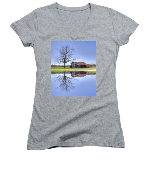 Rustic Barn Women's V-Neck (Athletic Fit)