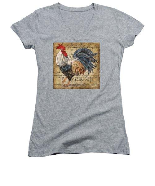 Rustic Rooster-jp2119 Women's V-Neck T-Shirt