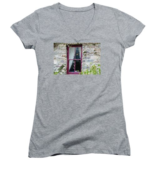 Rustic Window  Women's V-Neck