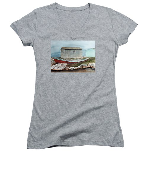Safe From The Storm Women's V-Neck