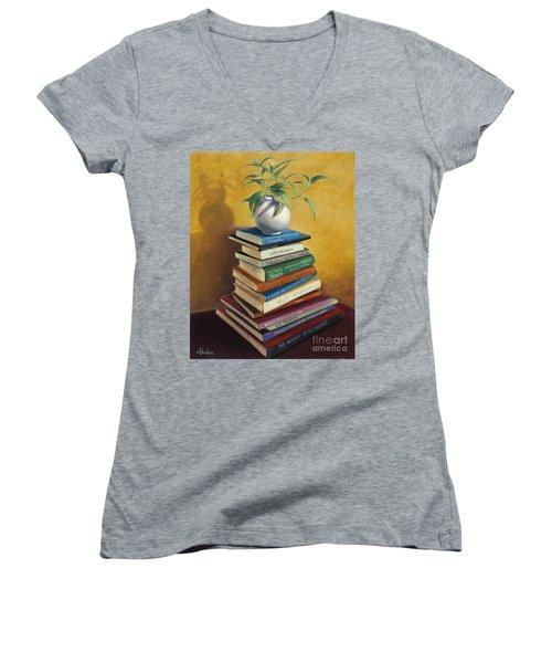 Sage Women's V-Neck T-Shirt