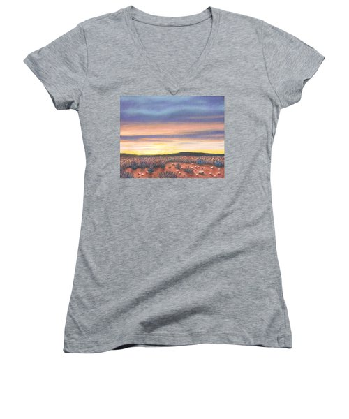 Sagebrush Sunset B Women's V-Neck