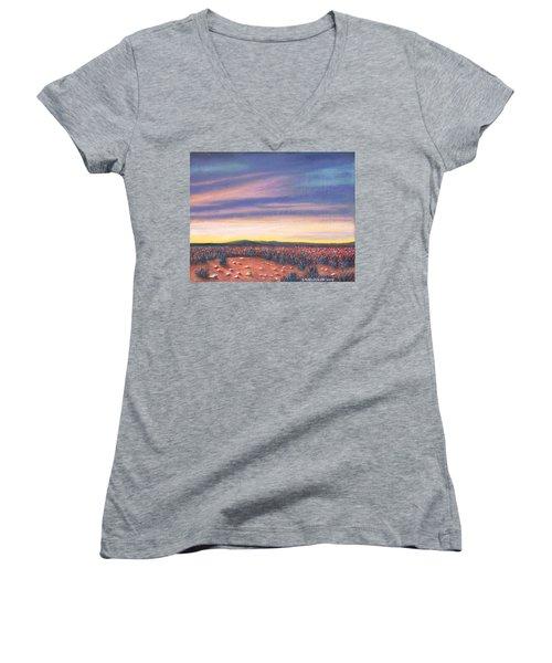 Sagebrush Sunset C Women's V-Neck