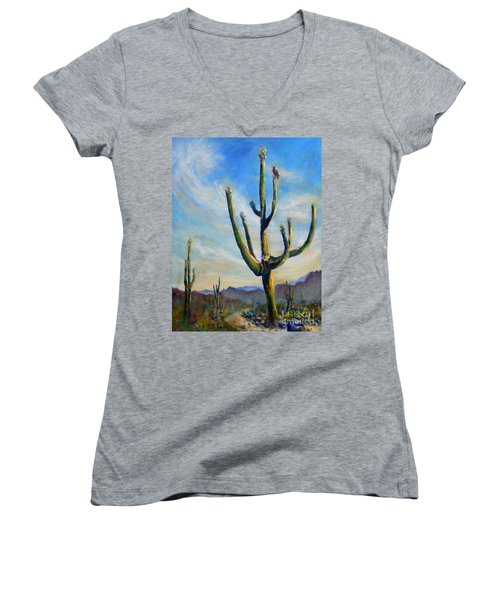 Saguaro Cacti Women's V-Neck