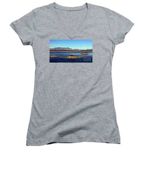 Women's V-Neck T-Shirt (Junior Cut) featuring the photograph Sail Away by Tammy Espino