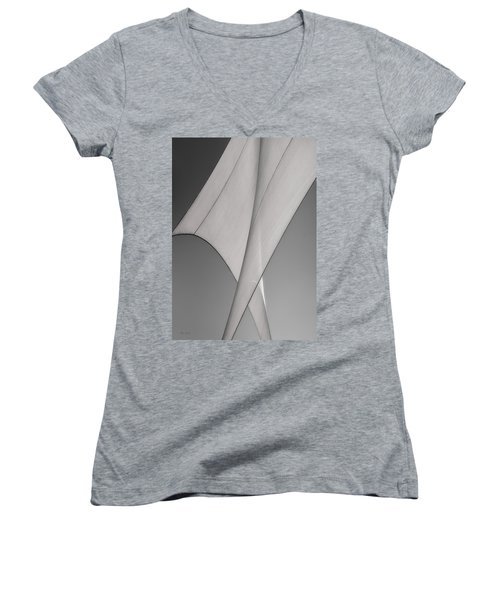 Sailcloth Abstract Number 3 Women's V-Neck (Athletic Fit)