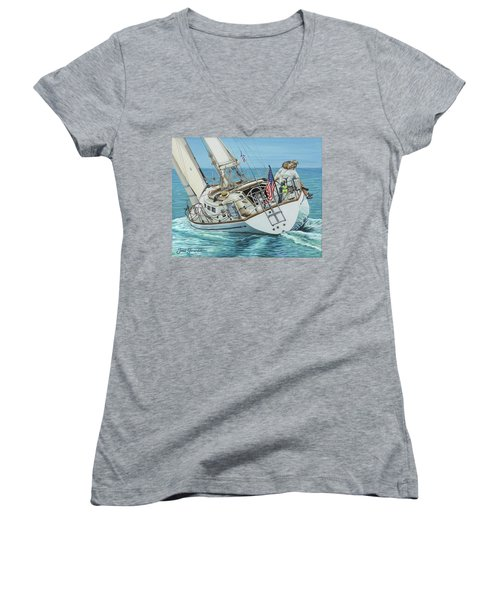 Sailing Away Women's V-Neck
