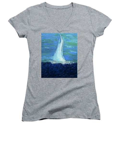 Sailing On The Blue Women's V-Neck T-Shirt