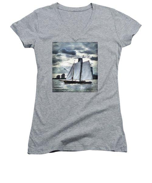 Sailing On The Hudson Women's V-Neck