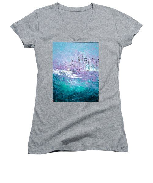 Sailing South - Sold Women's V-Neck T-Shirt (Junior Cut) by George Riney