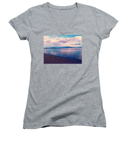 Women's V-Neck T-Shirt (Junior Cut) featuring the photograph Sailor's Delight by Marilyn Wilson