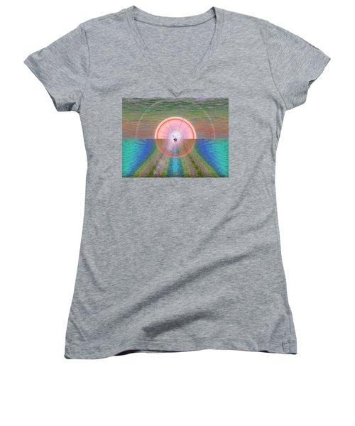 Sailors Warning Women's V-Neck T-Shirt (Junior Cut) by Tim Allen