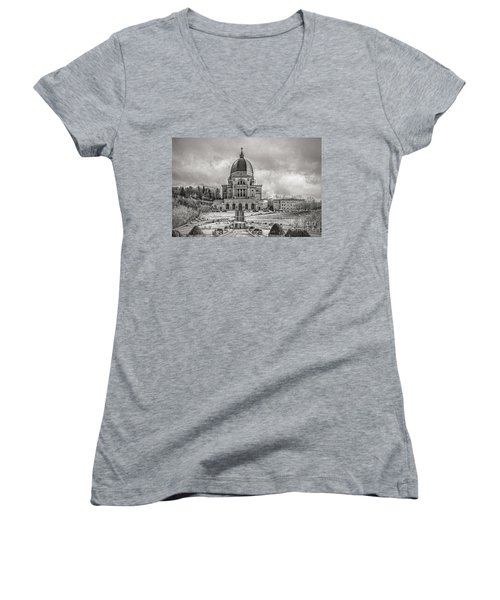 Saint Joseph Oratory Women's V-Neck T-Shirt