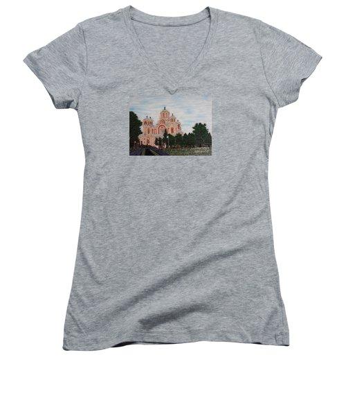 Saint Marko Church  Belgrade  Serbia  Women's V-Neck T-Shirt
