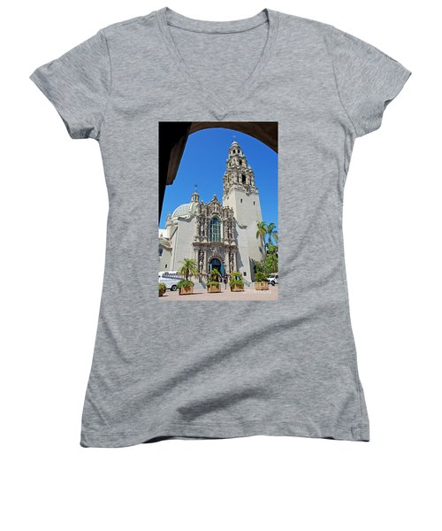 San Diego Museum Of Man Women's V-Neck T-Shirt