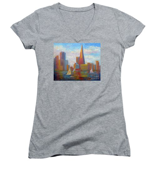San Francisco Reflections Women's V-Neck