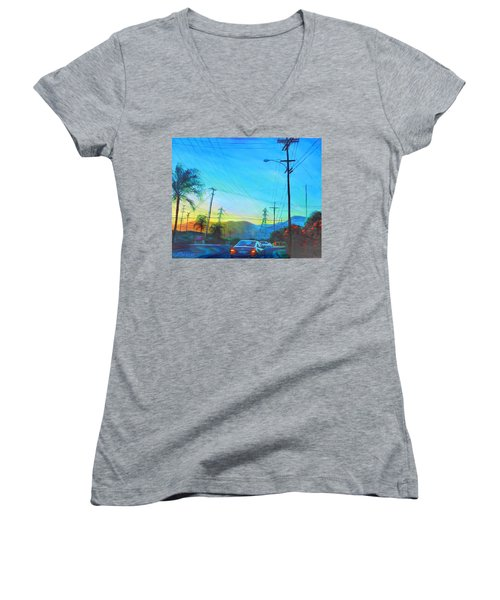 San Gabriel Rush Women's V-Neck T-Shirt