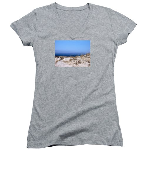 Sand And Sky Women's V-Neck T-Shirt (Junior Cut) by Catherine Gagne