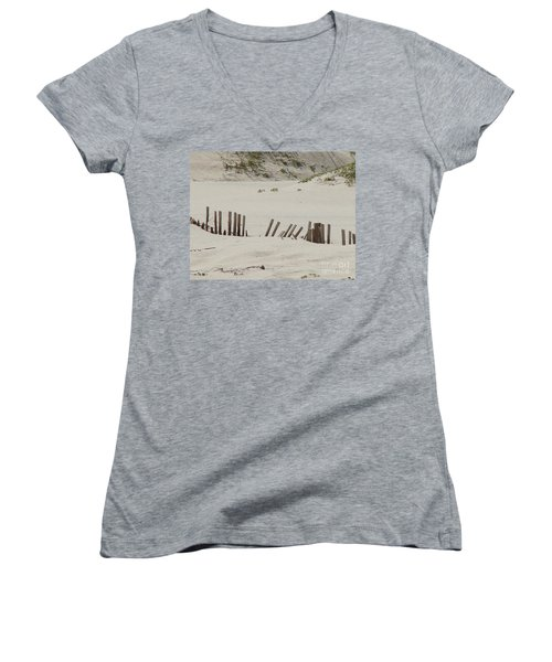 Sand Dunes At Gulf Shores Women's V-Neck (Athletic Fit)