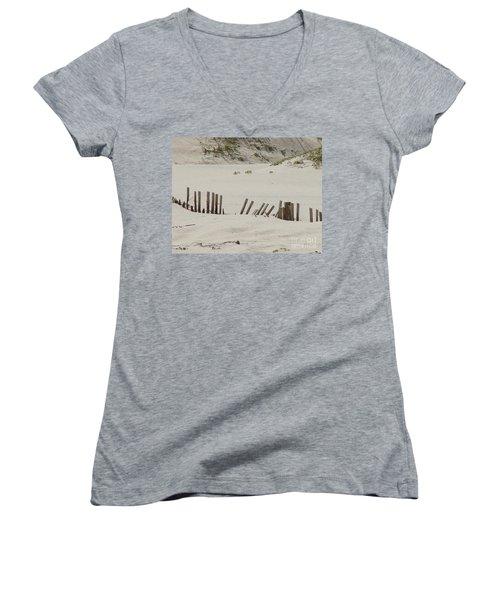 Sand Dunes At Gulf Shores Women's V-Neck T-Shirt