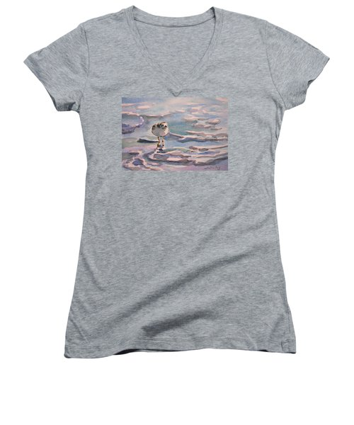 Sandpiper And Seafoam 3-8-15 Women's V-Neck (Athletic Fit)