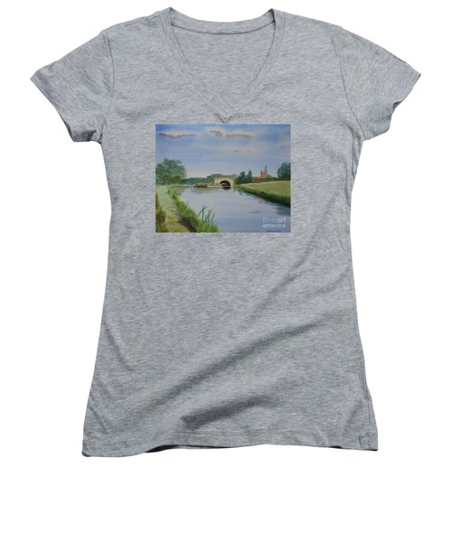 Sandy Bridge Women's V-Neck T-Shirt (Junior Cut) by Martin Howard