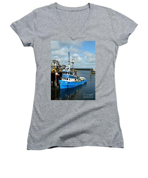 Santa Maria Offload Women's V-Neck T-Shirt (Junior Cut)
