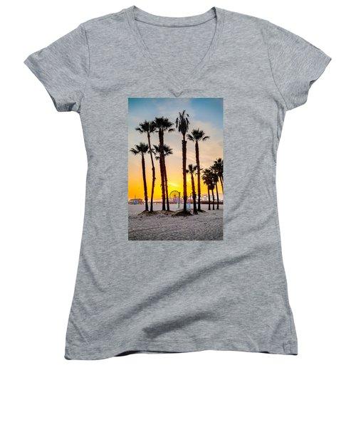 Santa Monica Palms Women's V-Neck (Athletic Fit)