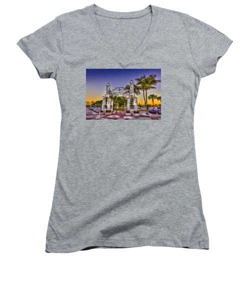 Sarasota Bayfront Women's V-Neck T-Shirt